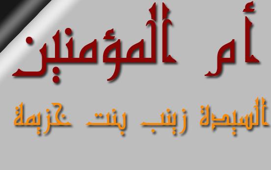 السيدة زينب بنت جحش