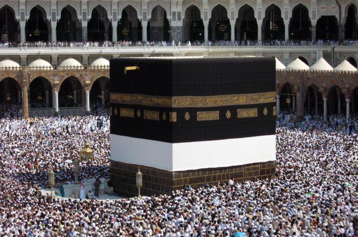 Muslim pilgrims circle around the Kaaba